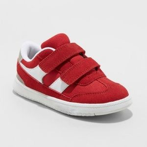 Toddler Boys Red Sneakers Casey Double Strap New!